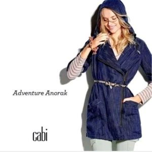 CAbi Adventure Anorak Hooded Indigo Cotton Coat
